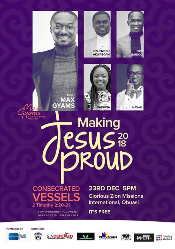 Max Gyams returns with Making Jesus Proud 2018 Making Jesus Proud 18