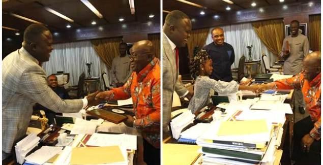 President Akufo-Addo Congratulates Cwesi Oteng on Anthems Album President Akufo Addo Congratulates Cwesi Oteng on Anthems Album