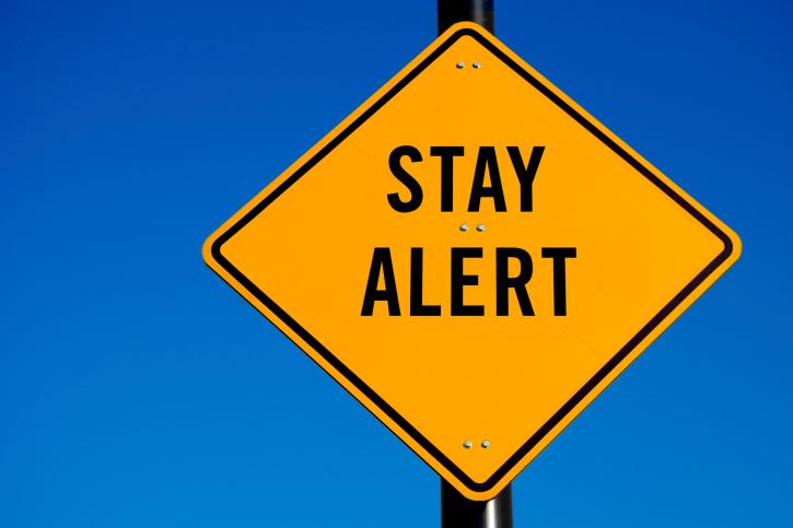 MORNING DEW:  BE ALERT! alert